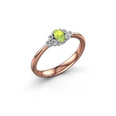 Picture of Engagement ring Lucy 1 585 rose gold peridot 6x4 mm