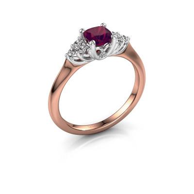 Verlovingsring Felipa CUS 585 rosé goud rhodoliet 5 mm