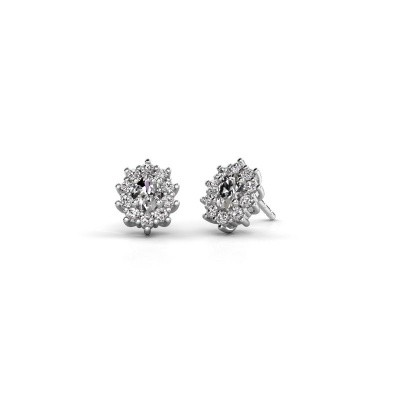 Picture of Earrings Leesa 950 platinum zirconia 6x4 mm