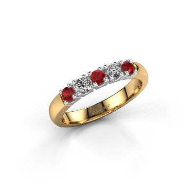 Foto van Ring Rianne 5 585 goud robijn 2.7 mm