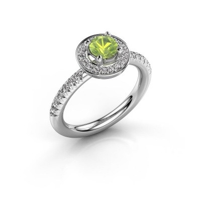 Picture of Ring Christine 925 silver peridot 5 mm