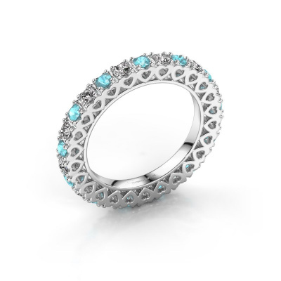 Stackable ring Hailey 925 silver blue topaz 2.2 mm
