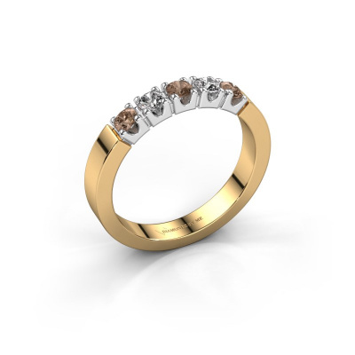 Verlovingsring Dana 5 585 goud bruine diamant 0.50 crt