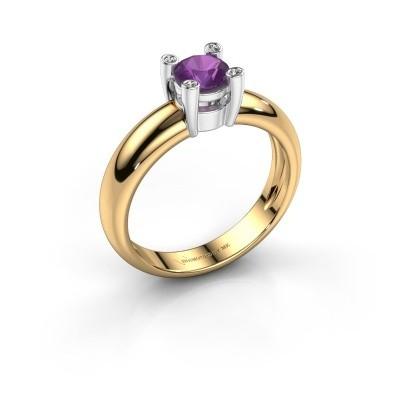 Ring Fleur 585 goud amethist 4.7 mm