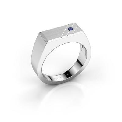 Men's ring Dree 5 950 platinum sapphire 2.4 mm