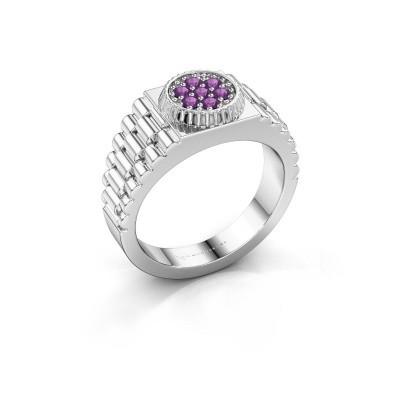 Foto van Rolex stijl ring Nout 925 zilver amethist 2 mm