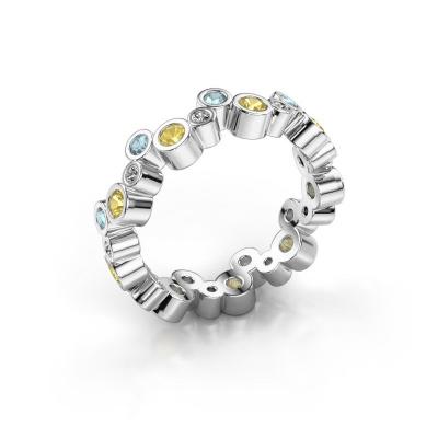 Ring Tessa 925 zilver gele saffier 2.5 mm
