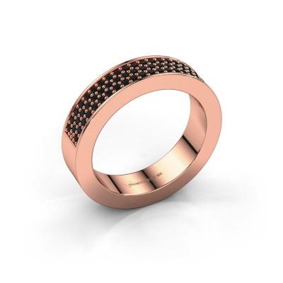 Ring Lindsey 2 585 rosé goud zwarte diamant 0.52 crt