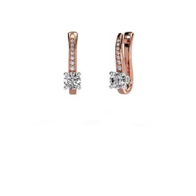 Oorbellen Valorie 585 rosé goud diamant 1.18 crt