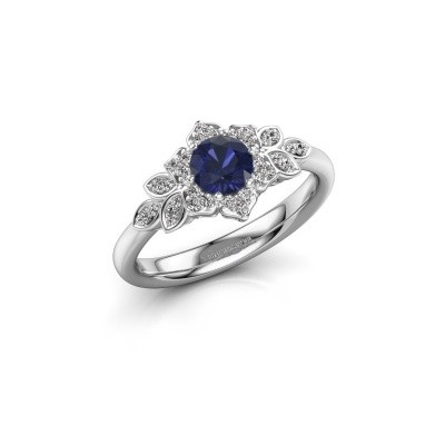 Picture of Engagement ring Tatjana 925 silver sapphire 5 mm