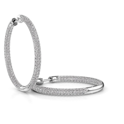 Picture of Hoop earrings Lotje 25mm 585 white gold lab-grown diamond 2.117 crt