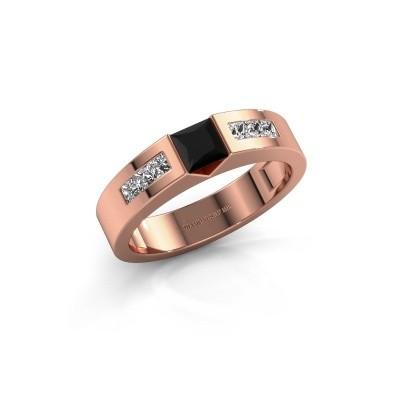 Foto van Verlovings ring Arlena 2 375 rosé goud zwarte diamant 0.78 crt