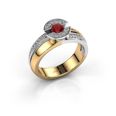 Ring Jeanet 2 585 gold ruby 4 mm