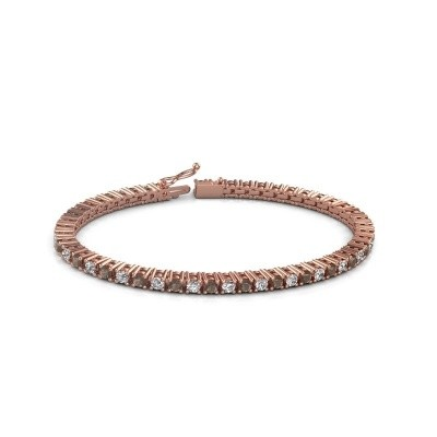Foto van Tennisarmband Petra 375 rosé goud rookkwarts 3 mm