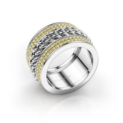 Foto van Ring Jayda 925 zilver gele saffier 1.2 mm