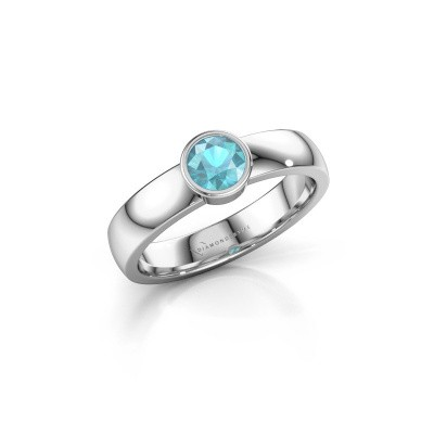Picture of Ring Ise 1 925 silver blue topaz 4.7 mm