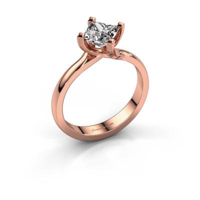 Engagement ring Dewi Square 585 rose gold diamond 1.00 crt
