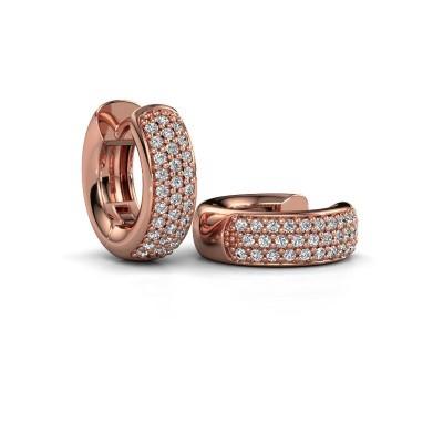 Foto van Creolen Lana 375 rosé goud diamant 0.402 crt