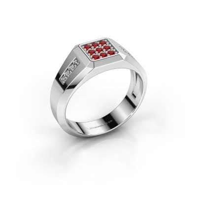 Pinky ring Bas 375 white gold ruby 1.7 mm
