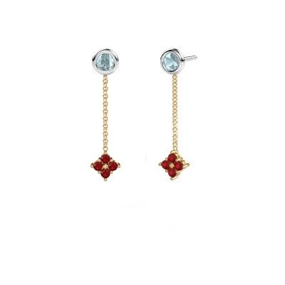 Picture of Drop earrings Ardith 585 gold ruby 2 mm