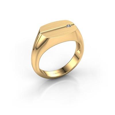 Foto van Herenring Stijn 585 goud diamant 0.03 crt