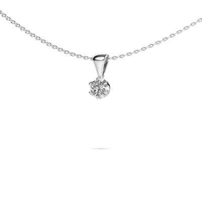 Foto van Ketting Fran 375 witgoud lab-grown diamant 0.15 crt