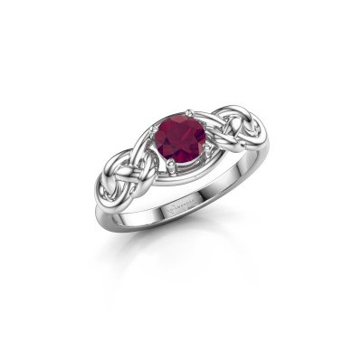 Picture of Ring Zoe 925 silver rhodolite 5 mm