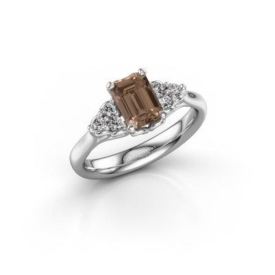 Foto van Aanzoeksring Myrna EME 950 platina bruine diamant 1.300 crt