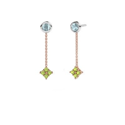 Picture of Drop earrings Ardith 585 rose gold peridot 2 mm
