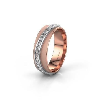 Weddings ring WH2126L 585 rose gold zirconia ±6x1.7 mm