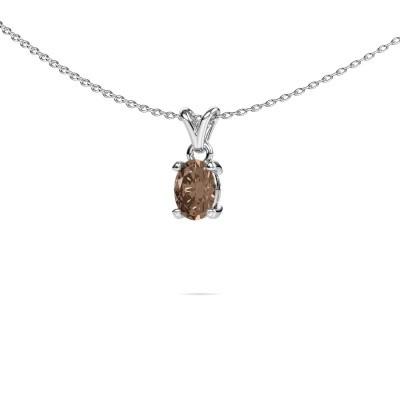Ketting Lucy 1 950 platina bruine diamant 0.80 crt