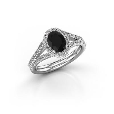 Foto van Verlovingsring Rachele 2 585 witgoud zwarte diamant 1.334 crt