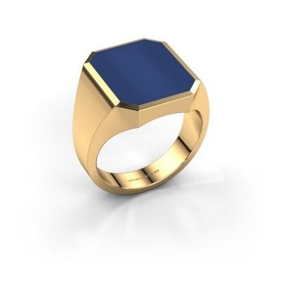 Foto van Zegelring Lars 5 585 goud lapis lazuli 16x13 mm