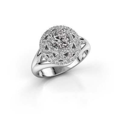 Ring Leonora 925 silver zirconia 5 mm