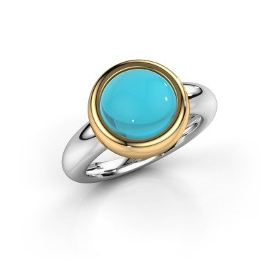 Picture of Ring Jenae 585 white gold blue topaz 10 mm