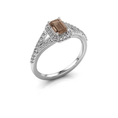 Engagement ring Pamela EME 950 platinum brown diamond 0.95 crt