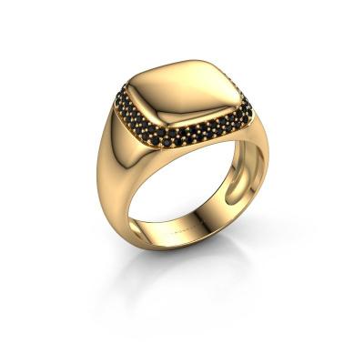 Foto van Heren ring Pascal 585 goud zwarte diamant 0.576 crt