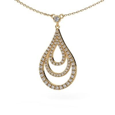 Foto van Hanger Delpha 375 goud diamant 0.487 crt