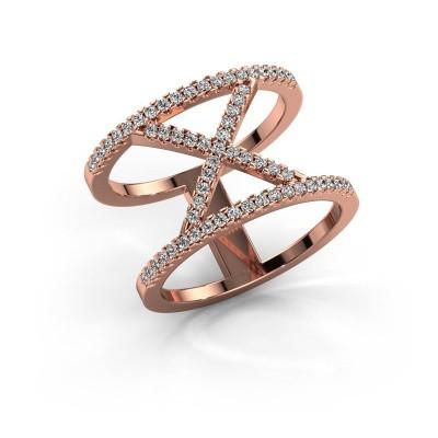 Foto van Ring Sharri 2 375 rosé goud diamant 0.422 crt