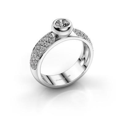 Foto van Ring Benthe 585 witgoud diamant 0.79 crt
