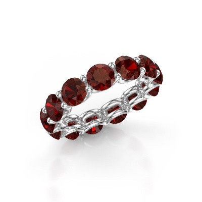 Picture of Ring Kirsten 5.0 585 white gold garnet 5 mm