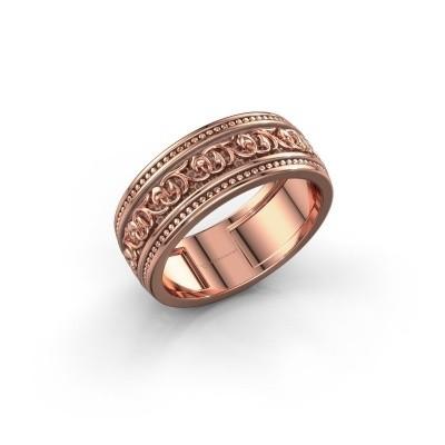 Foto van Mannen ring Eddo 375 rosé goud