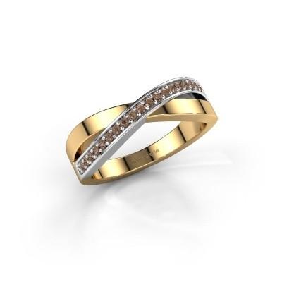 Foto van Ring Kaley 585 goud bruine diamant 0.143 crt