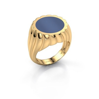 Bild von Siegelring Mano 585 Gold Blau Lagenstein 13 mm