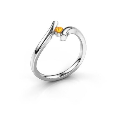 Foto van Ring Amy 925 zilver citrien 3 mm
