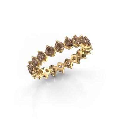 Foto van Aanschuifring Janie 3.0mm 375 goud bruine diamant 2.00 crt