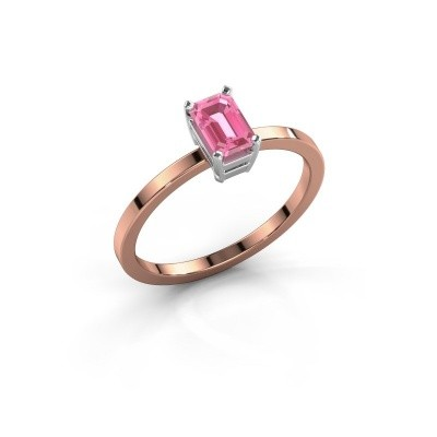 Verlobungsring Denita 1 585 Roségold Pink Saphir 6x4 mm