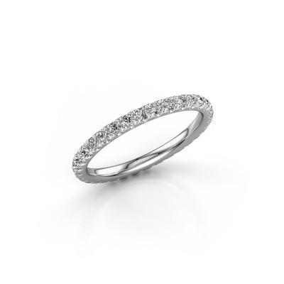 Photo de Bague superposable Jackie 1.7 585 or blanc diamant synthétique 0.66 crt