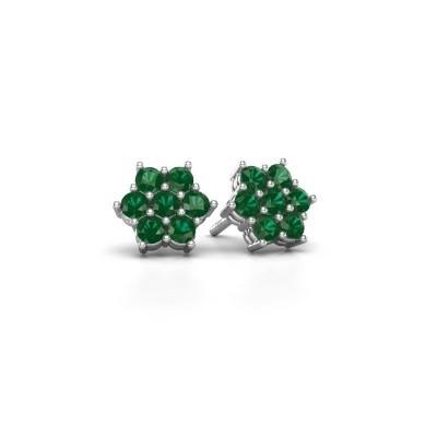 Picture of Stud earrings Bonita 925 silver emerald 2.4 mm