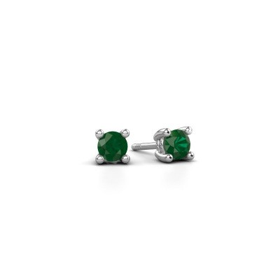 Picture of Stud earrings Sam 585 white gold emerald 4 mm